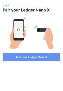 配對冷錢包 Nano X 及手機