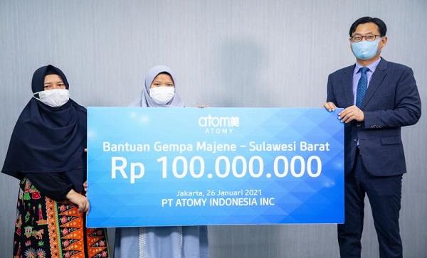 艾多美印尼地震重建捐款Atomy Indonesia Earthquake Reconstruction Donation