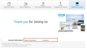 艾多美加拿大免費線上註冊成功 atomy canada application 6