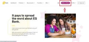 EQ bank refer a friend 加拿大銀行推薦鏈結開戶賺獎金